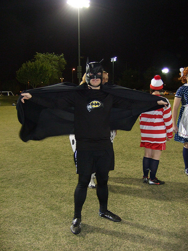 Ultimate player dressed as Batman