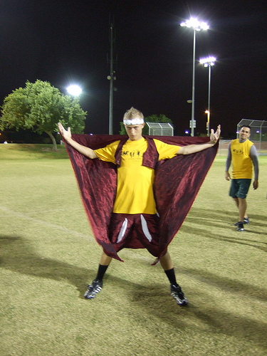 Ultimate player dressed as...a flying carpet?