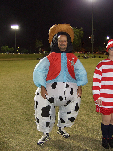 Ultimate player dressed as a 'cow' boy.