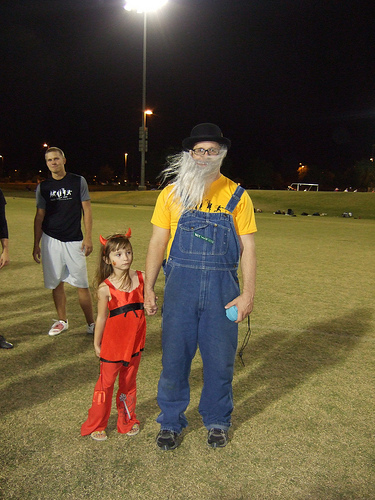 Ultimate player dressed in Halloween costume