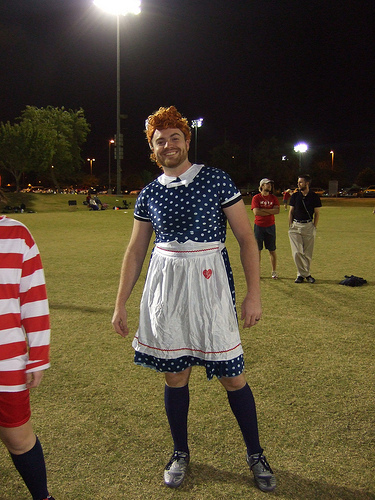 Ultimate player dressed as Lucille Ball