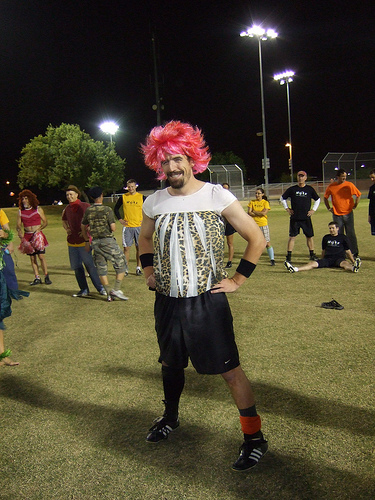 Ultimate player dressed in a Halloween costume