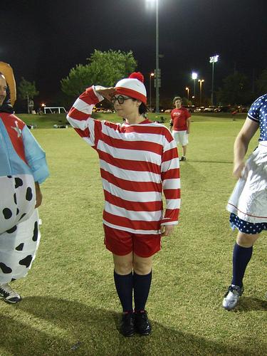 Ultimate player dressed as Waldo