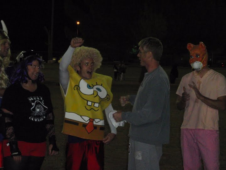 Ultimate players dressed in Halloween costumes.