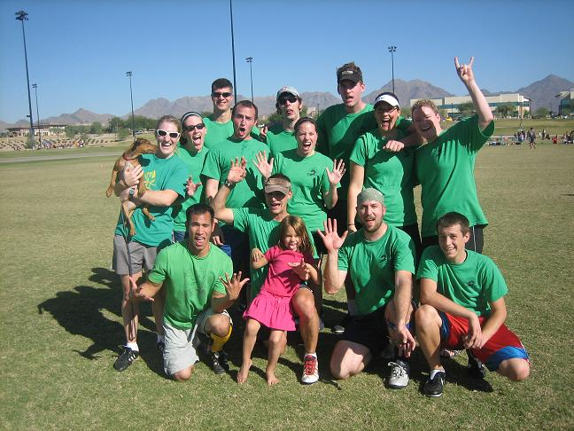 Ultimate, Huck Yeah! team picture