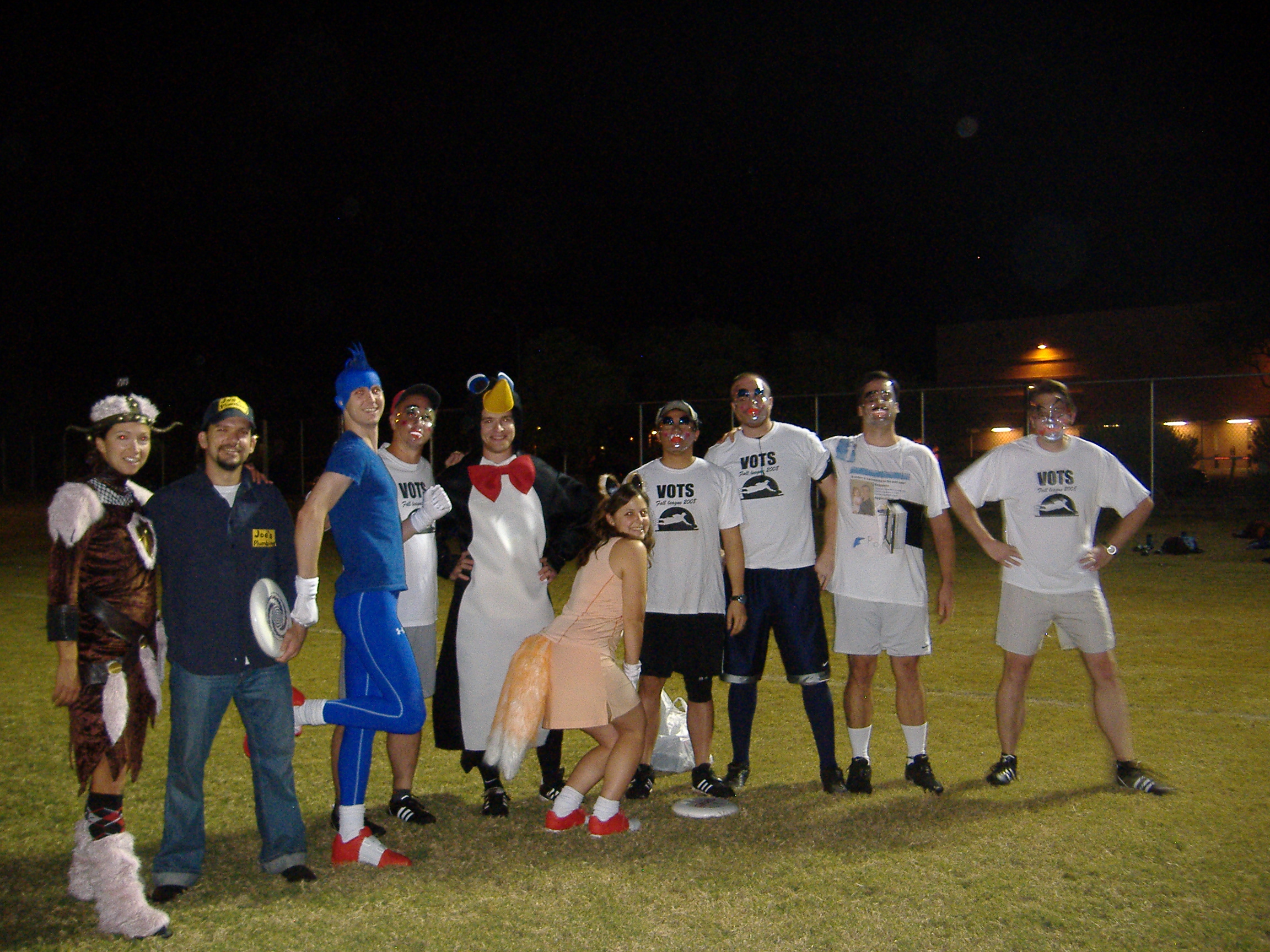 The team, Wii Huck, in costume.