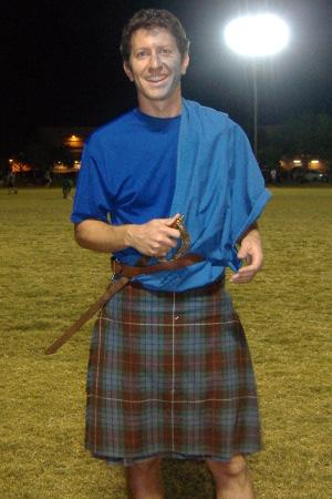 Team, Blu Goo, in Scottish costumes