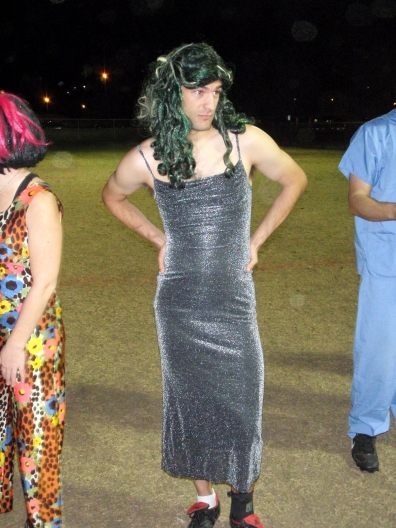 ultimate disc player in a dress